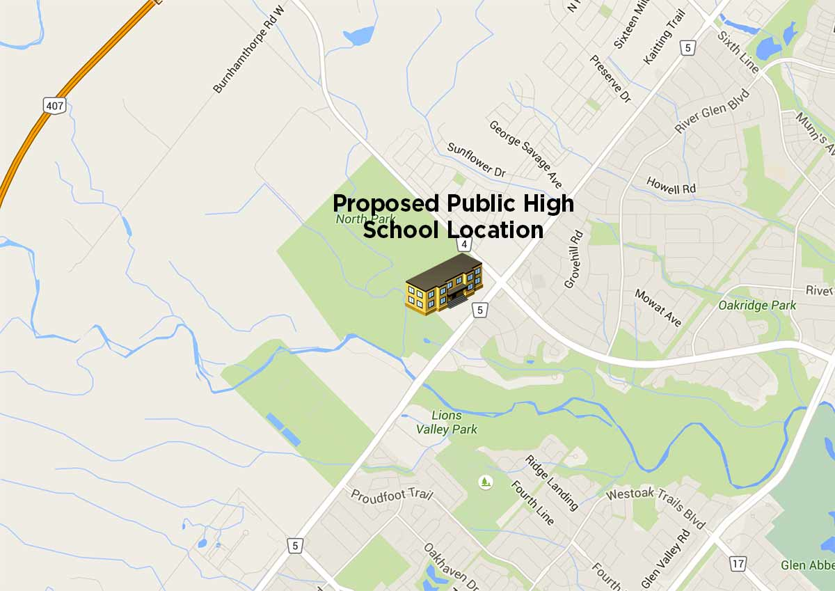 The Preserve Oakville Public High School Proposal