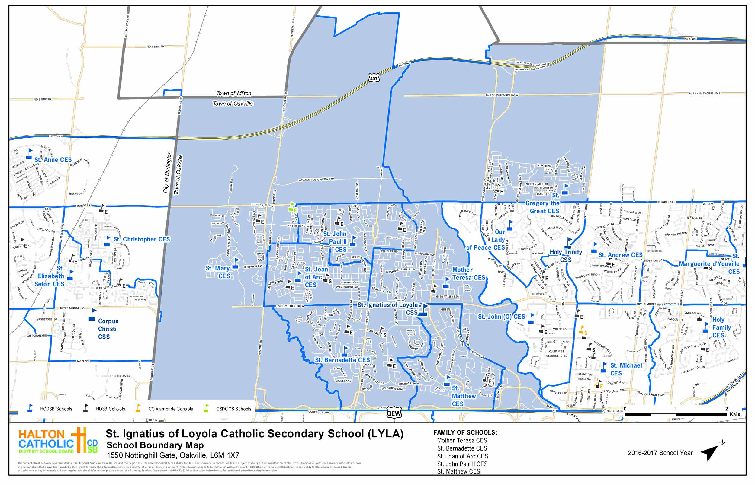 loyola oakville school boundary map
